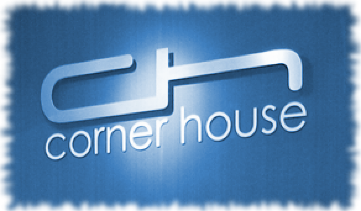 view of the corner house logo in the salon
